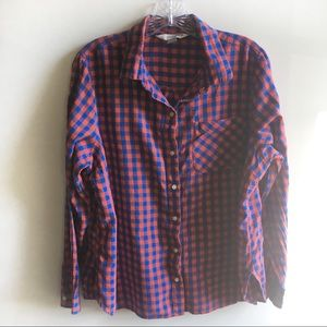 Old Navy The Classic Shirt gingham red blue